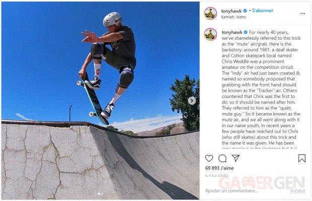 Tony Hawk's Pro Skater 1 +2 Chris Weddle grab mute air