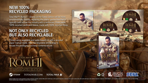 Total War Rome II Enemy at the Gates Edition boitier carton recyclable