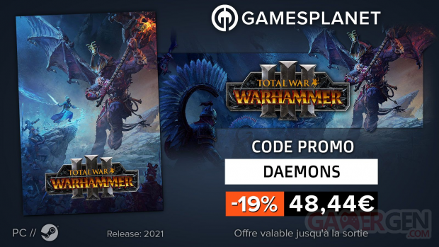 Total War Warhammer III Gamesplanet code promo