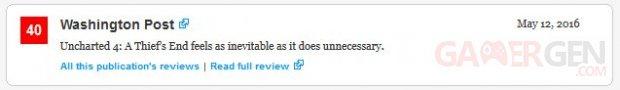 Uncharted 4 Mectacritic Washington Post