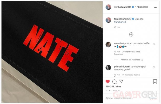 Uncharted Tom Holland Tournage Nate
