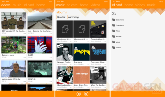 VLC windows phone.