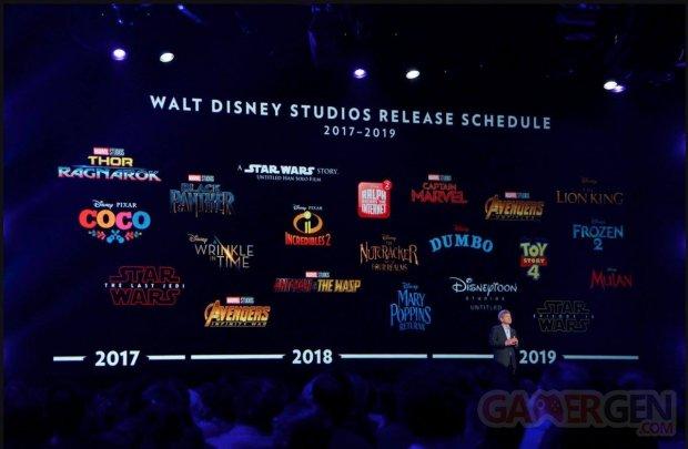 Walt Disney Studios release schedule 2017 2018 2019