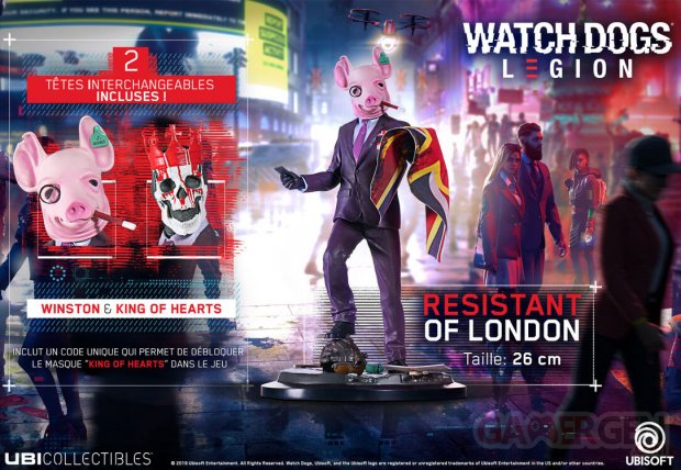 WATCH DOGS LEGION   Figurine Resistant of London 01