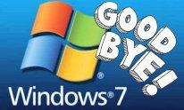 Windows 7 good bye fin adieu image microsoft