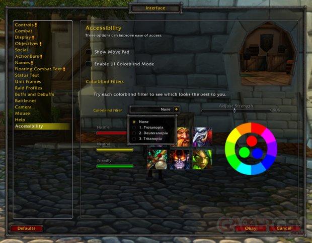 Word of Warcraft handicap visuel