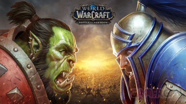 World of Warcraft Battle for Azeroth Key Art 2 Orc v Human