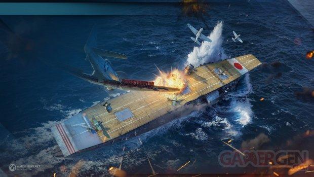 World of Warships porte avions