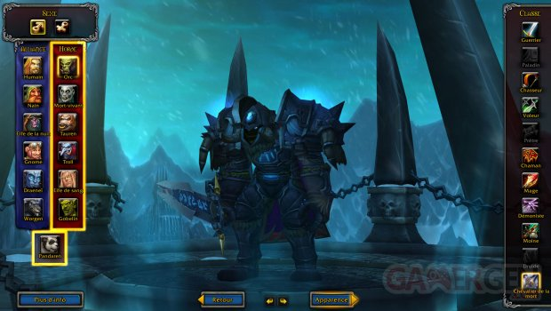 wow world warcraft dk chevalier mort