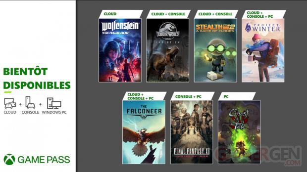 Xbox Game Pass 02 01 2021 nouveautés février