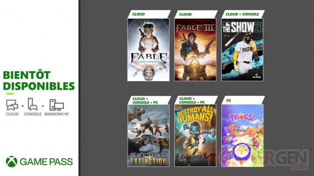 Xbox Game Pass 20 04 2021 nouveautés fin avril 2021