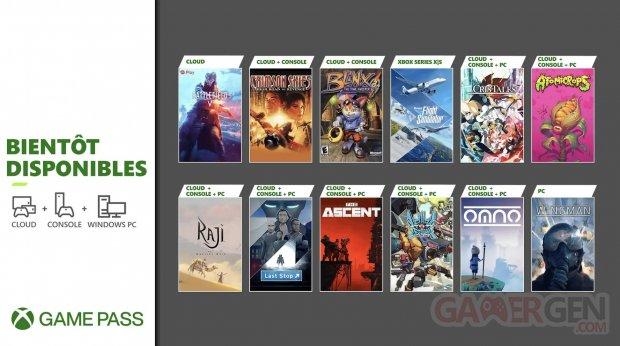 Xbox Game Pass 20 07 2021 nouveautés