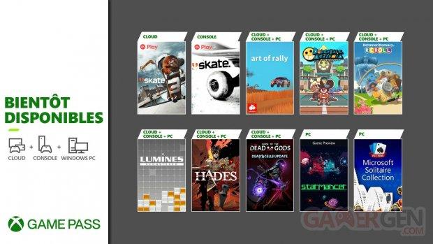 Xbox Game Pass 2021 08 03