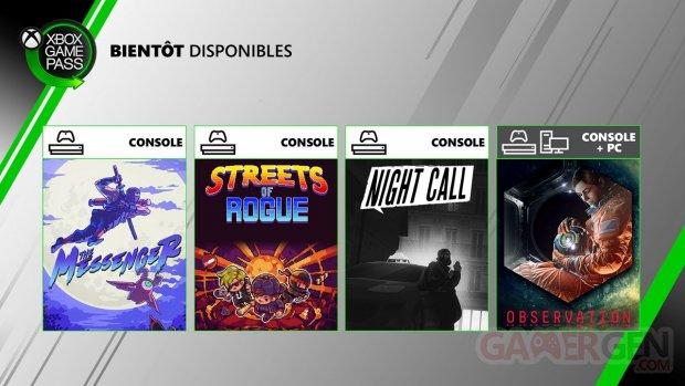 Xbox Game Pass 24 06 2020 nouveautés