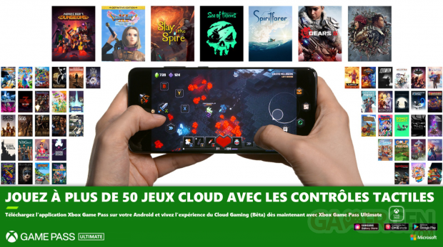 Xbox Game Pass avril 2021 contrôles tactiles