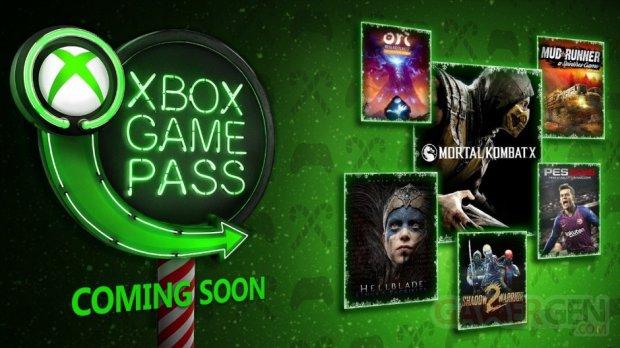 Xbox Game Pass décembre 2018