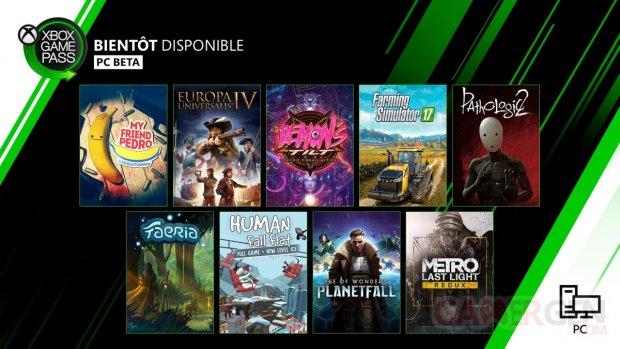 Xbox Game Pass décembre 2019 PC