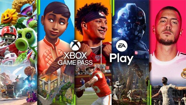 Xbox Game Pass EA Play logo head banner 2