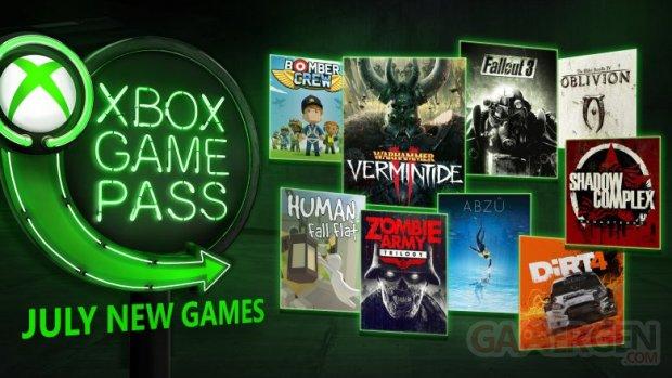 xbox game pass les jeux du mois de juillet 2018 d voil s gamergen com. Black Bedroom Furniture Sets. Home Design Ideas
