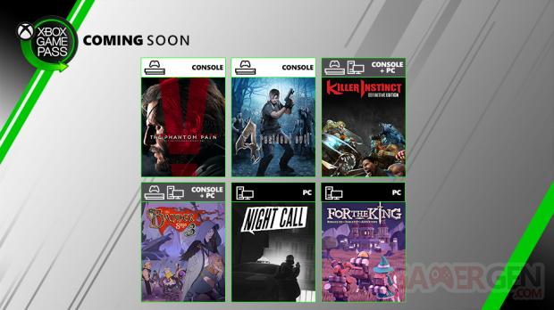 Xbox Game Pass juillet 2019
