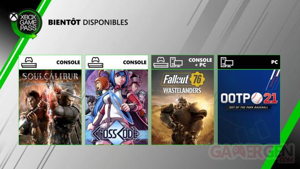 Xbox Game Pass juillet 2020
