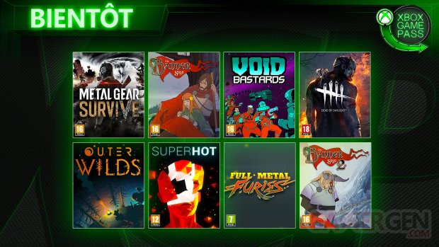Xbox Game Pass Juin 2019
