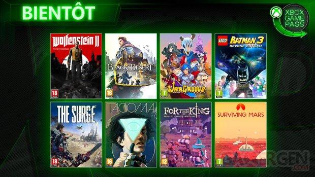 Xbox Game Pass mai 2019