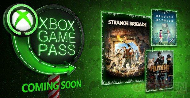 Xbox Game Pass new 29 11 2018