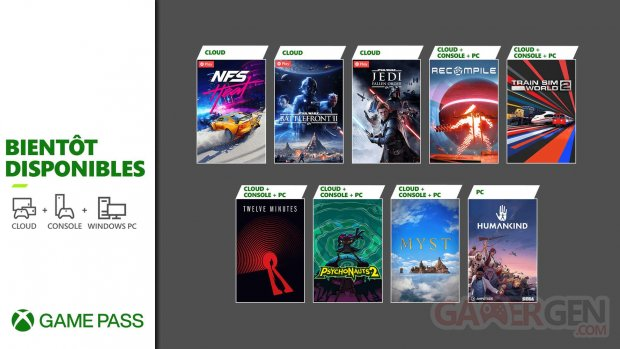 Xbox Game Pass nouveautés fin août 2021