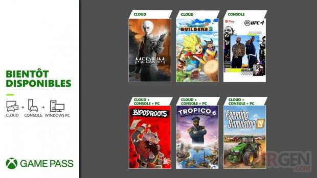 Xbox Game Pass nouveautés juillet 2021