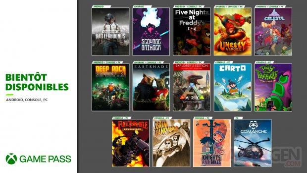 Xbox Game Pass octobre novembre 2020