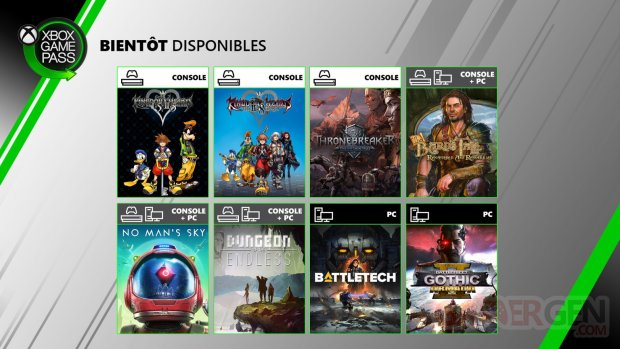 Xbox Game Pass PC Console juin 2020