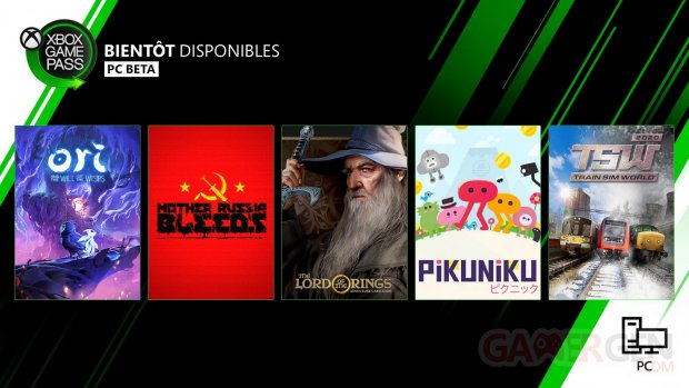 Xbox Game Pass pour Console mars 2020 PC