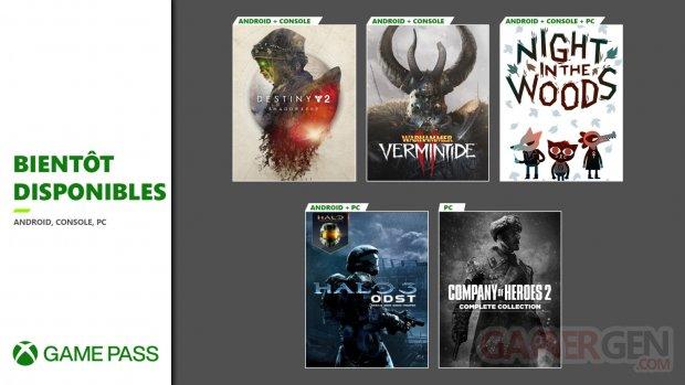 Xbox Game Pass septembre 2020