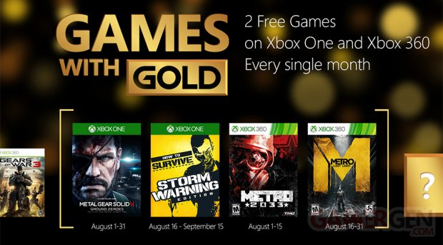 Xbox Live Games with Gold août 2015