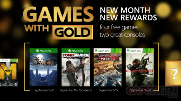 Xbox Live Games with Gold septembre 2015