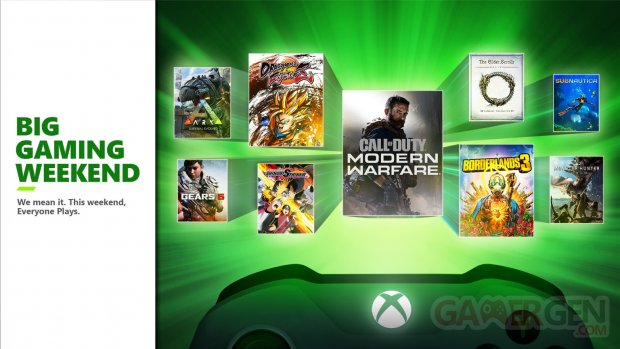 Xbox One Big Gaming Weekend