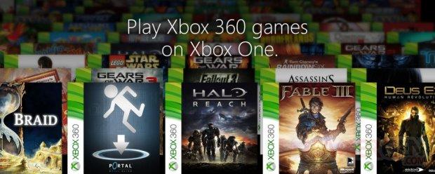Xbox One jeux Xbox 360 re?trocompatibles