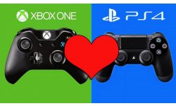Xbox One Microsoft PS4 Sony Love Coeur image