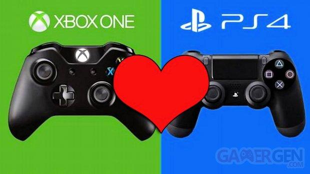 Xbox One Microsoft PS4 Sony Love Coeur image