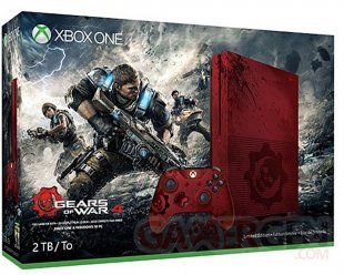 Xbox One S Gears of War 4 image console 1