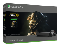 Xbox One X Fallout 76 Bundle Front Angle Box Shot