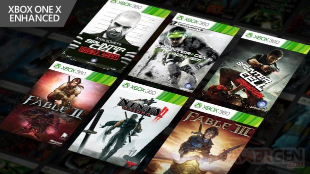 Xbox One X jeux améliorés 17 04 2019