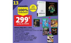 Xbox One X Pack 6 jeux image console auchan