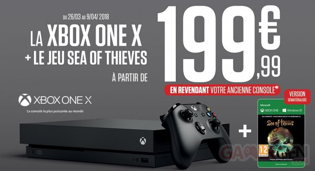 Bon plan la xbox one x et sea of thieves partir de 199 - Reprise de console micromania ...
