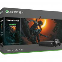 Xbox One X Shadow of the Tomb Raider Bundle Front Angle Box Shot