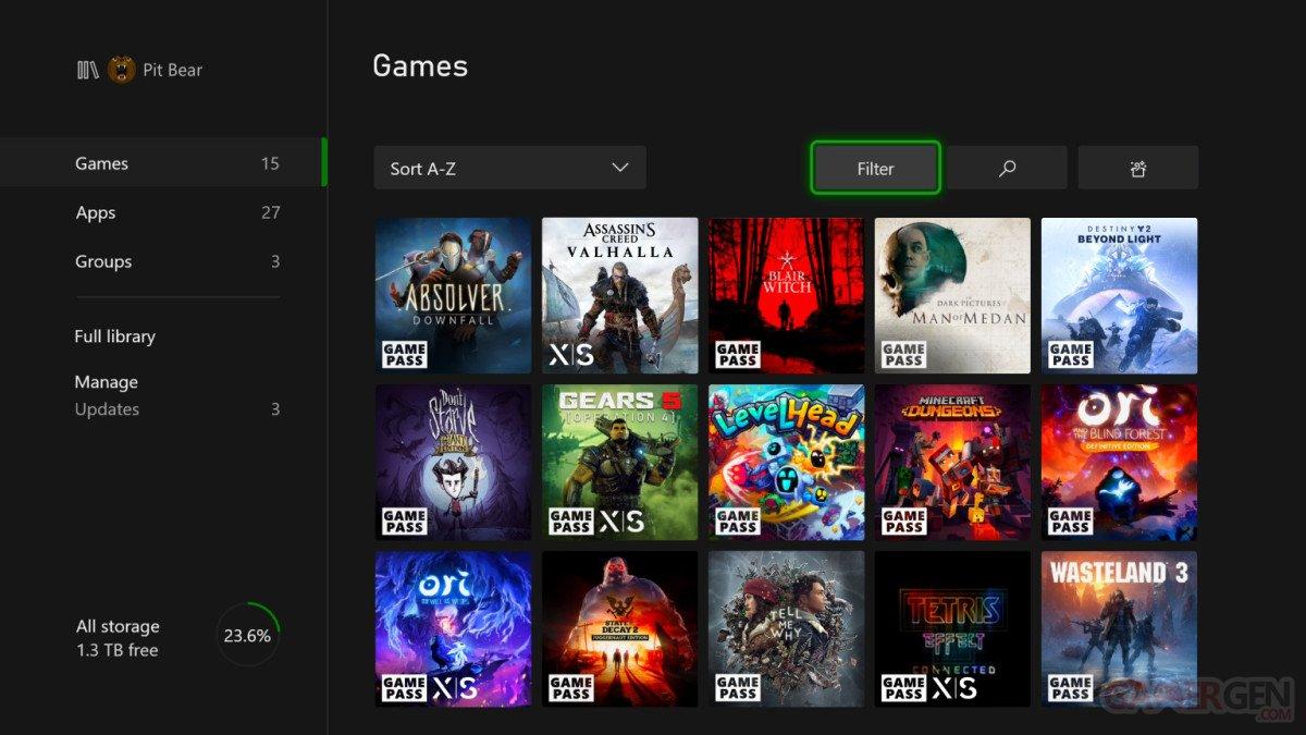 Xbox Series X S mise à jour firmware novembre pic 2