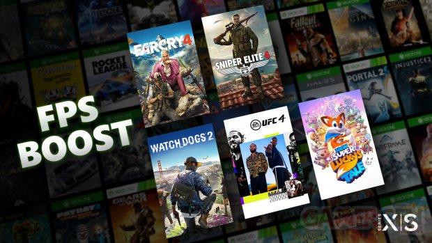 Xbox Series X S rétrocompatibilité jeux rétrocompatibles FPS Boost 1