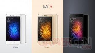 Xiaomi Mi 5 coloris