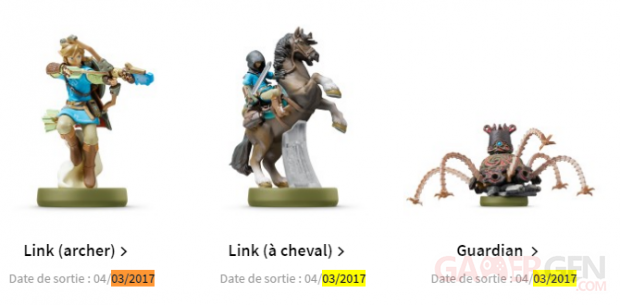zelda breath wild amiibo march 4